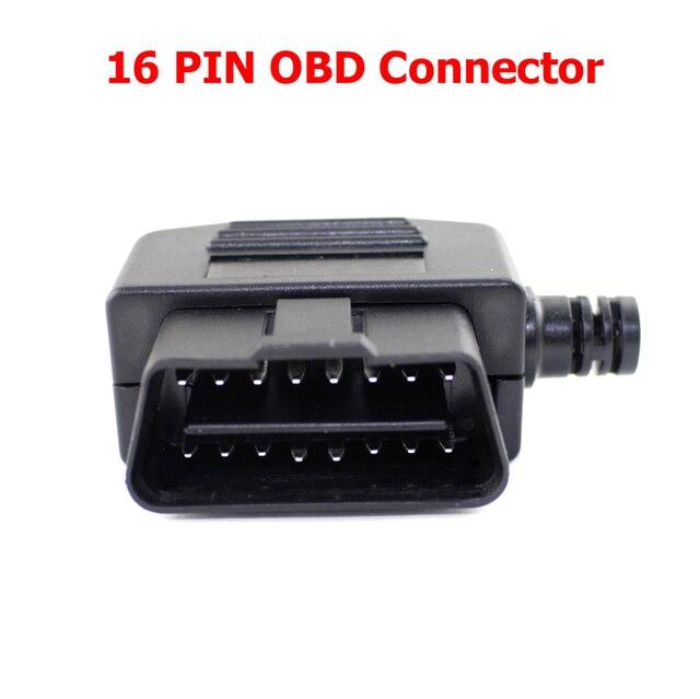 10pcs lot auto car obd2 connector 16pin male plug 16 pin. Black Bedroom Furniture Sets. Home Design Ideas