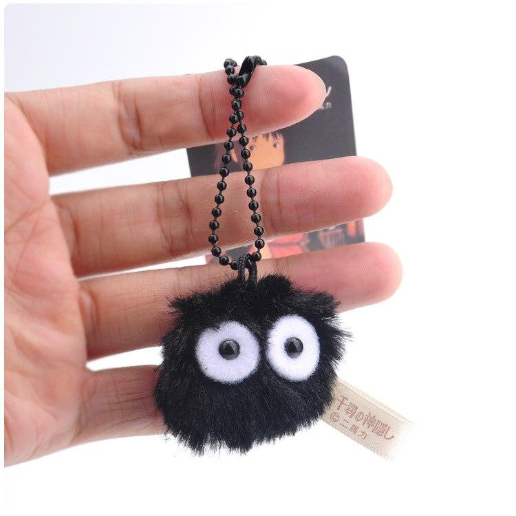 Japan Black Charcoal Briquettes Plush Pendant Toy Doll Mini Cute Clamshell Doll Plush Keychain 4cm  WJ04