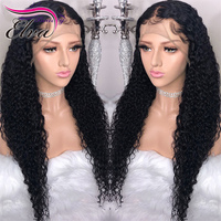 Elva Hair Curly Full Lace Human Hair Wigs Brazilian Full Lace Wig With Baby Hair Pre Plucked Hairline Remy Hair 8 26'' Lace Wig