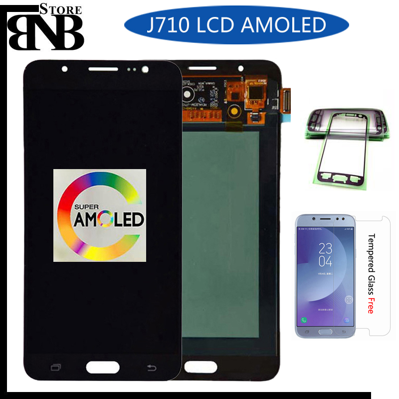 Original Amoled For Samsung Galaxy J7 2016  J710 SM-J710F J710M J710H J710FN LCD Display With Touch Screen Digitizer Assembly