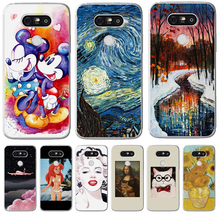 Luxury For LG G 4 5 6 Q 6 8 K 4 7 8 10 2017 X power 2 screen Cover Case Silicone Funda Coque Capinha Etui mickey woman starry 5 q 8