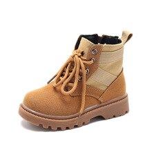 ФОТО kine panda fashion army style kids boys school student children shoes girls boots zip soft anti-slide bottom 2-9 years old