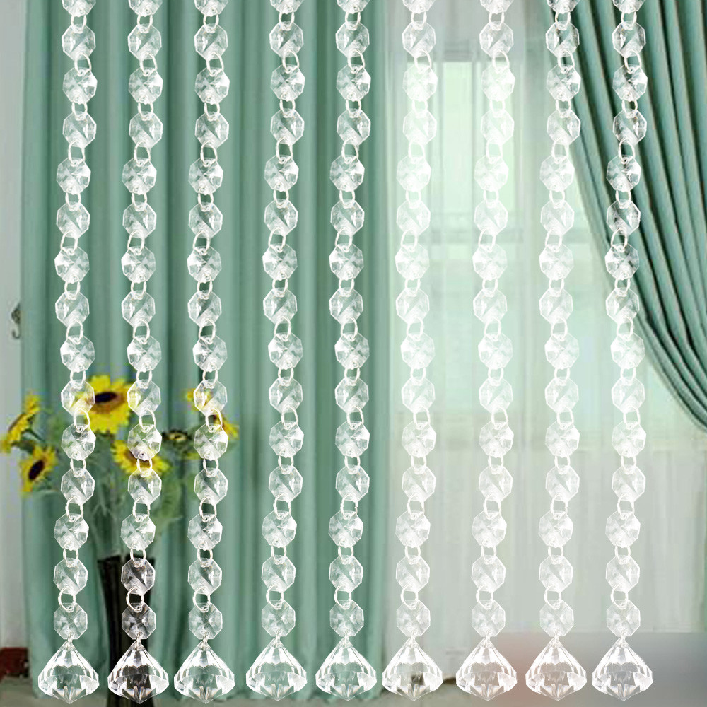 Decoration Rideaux Pour Salon 10pcs diy wedding decor diamond curtain acrylic crystal