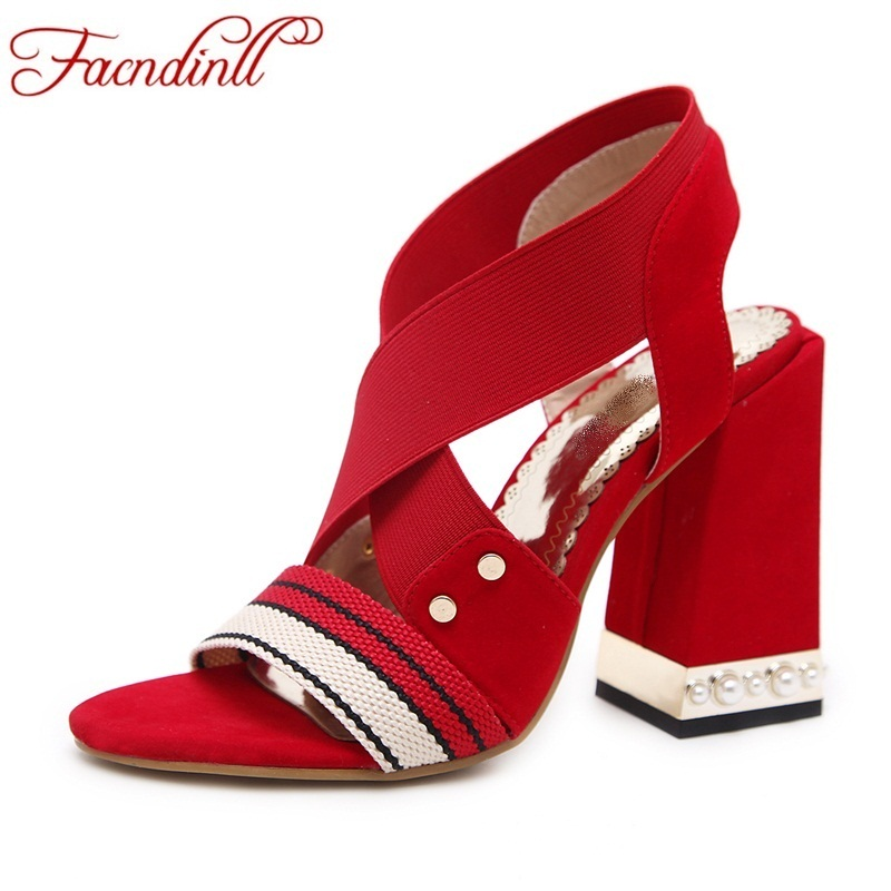 2018 fashion summer shoes women rome gladiator sandals thick high heels rivets Cross-tied party wedding shoes ladies casual shoe plus size 34 43 new 2017 summer women sandals fashion thick high heels party shoes t strap rome style ladies beach shoes