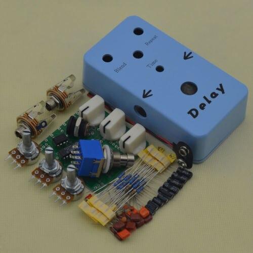 DIY Delay Guitar Effect Pedal Delay Guitar Effects Suite sky-blue Guita Pedal blue sky чаша северный олень
