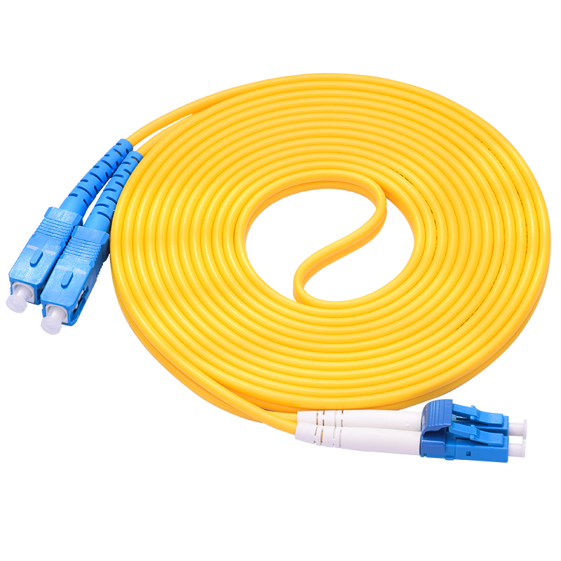 Cable Duplex Singlemode LC-SC LC To SC Fiber Optic Optical Patch Cord