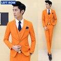 ( suit +vest+pants)2017 premium brand the groom's wedding dress Men's wedding suits /Male premium brand pure color business suit