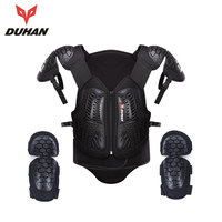 DUHAN Motorcycle Vest Motorcross Off Road Racing Body Armor Professional Back Protection Racing Protective With Elbow