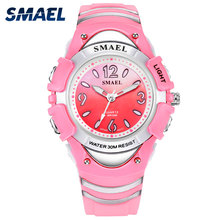 SMAEL Black Kids Digital Watch Waterproof Electronic Clocks LED Display Cool Children Watch Gift 0616c Sport Watches Smart Kids