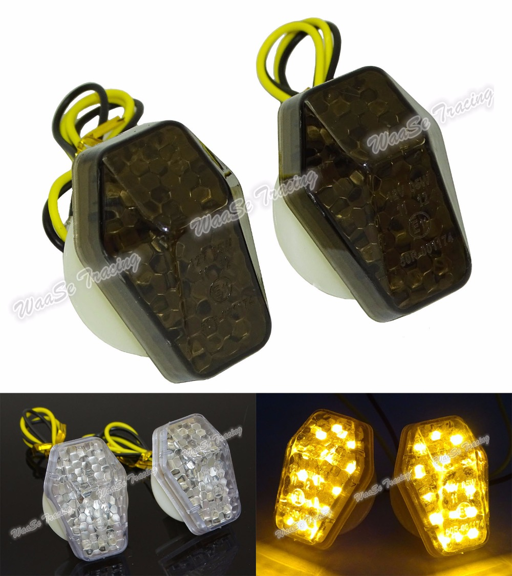 waase LED Flush Mount Turn Signal Indicator Light Blinker For Yamaha YZF R1 1998-2001 / R6 1999-2002 / FZ1 2001-2005