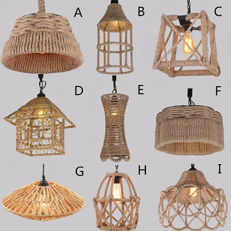 American country lamp retro industrial chandelier creative rope chandelier bar restaurant woven lamp american country long rope chandelier retro restaurant creative clothing bar window industrial wind chandelier