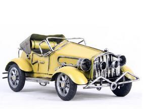 1pcs 8inch fashion hand made metal car model for desk deck
