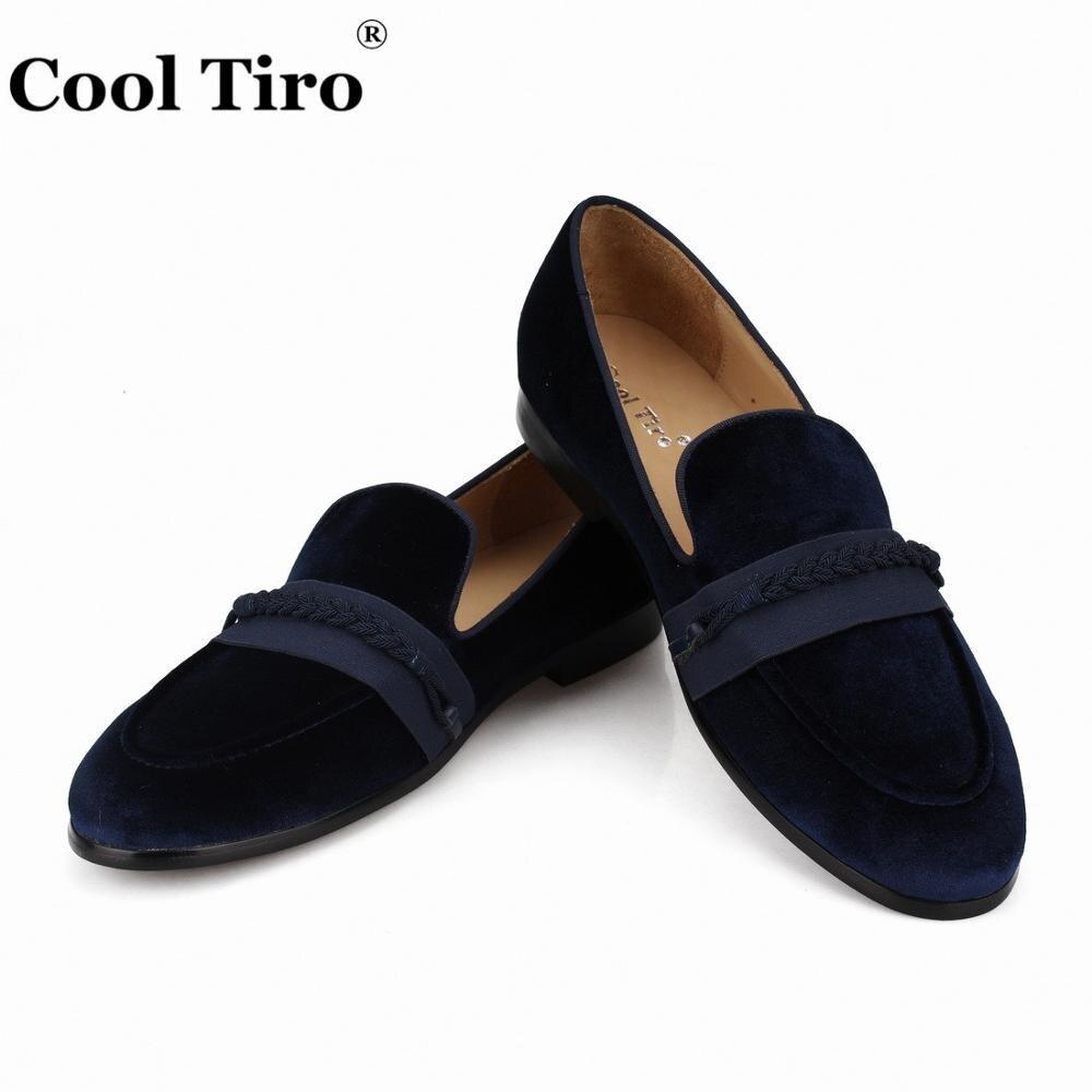 Cool Tiro Men s Moccasins Braiding Loafers Men Velvet Dress Shoes Slippers Smoking Slip on Flats