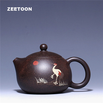 280ml Song He Yannian Xishi Pot Authentic Yixing Teapot Chinese Healthy Purple Clay Tea Pot All Handmade Kung Fu Tea Set Kettle