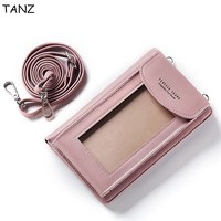TANZ Universal Mltifunction Leather Cell Phone Shoulder Bag Pocket Wallet Pouch Case For IPhone X 5C