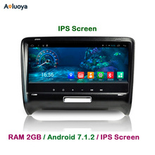 Aoluoya IPS RAM 2 GB + 32G Android 7.1 Din autoradio lecteur DVD GPS pour AUDI TT 2006 2007 2008 2009 2010 2011 2012 2013 2014 WIFI