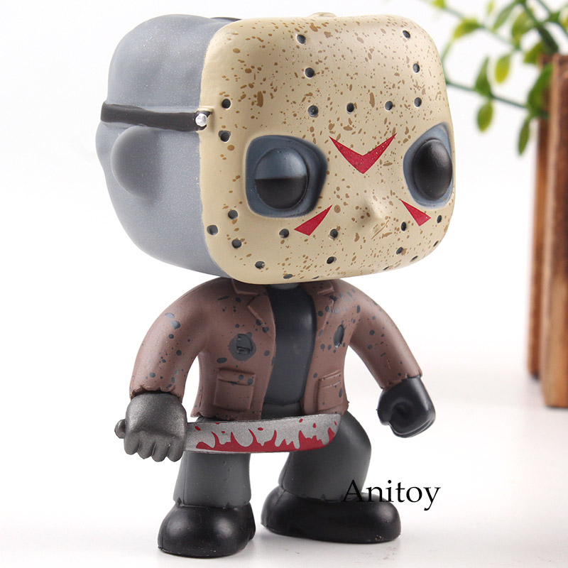 Action & Toy Figures Friday The 13th Figure Jason Voorhees Vinyl Big Head Doll Pvc Horror Action Figures Collection Model Toys With Retail Box 9cm