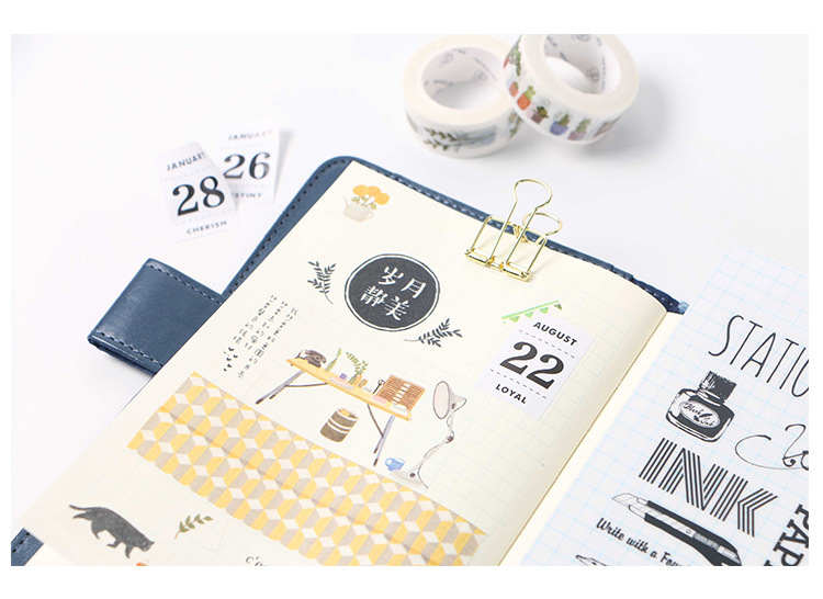 12 Sheets lot Creative Perpetual Calendar Stickers Diary Album ... 045d3759108