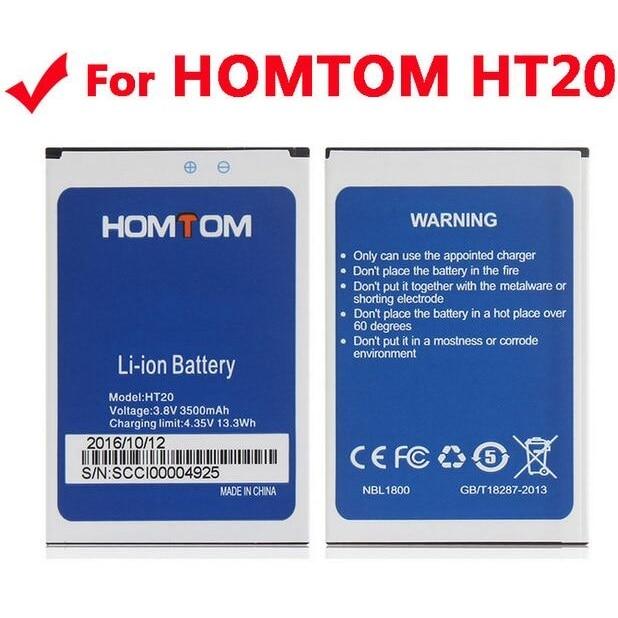 imágenes para HT20 HOMTOM Batería 100% Original de Gran Capacidad de 3500 mAh de Copia de seguridad de Reemplazo de Baterías Para HOMTOM HT20 Pro Smart Phone