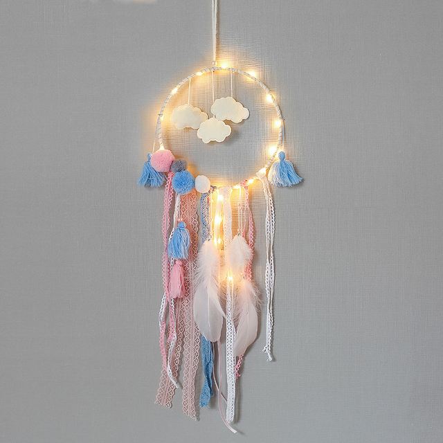 Us 9 59 37 Off Aliexpress Com Buy Diy Dream Catcher Pendant Home Pendant Dreamcatcher Creative Gifts Sun Fantasy Home Crafts Ornaments Lanterns T4