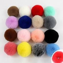 10 см, 1 шт., 20 цветов, пушистый мех кролика, помпон, искусственный мех кролика для женщин, автомобильная сумка, одежда, меховой брелок, мяч