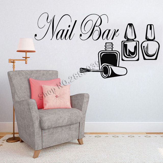 Nail Salon Quote Wall Window Vinyl Decal Sticker Nails Art Manicure