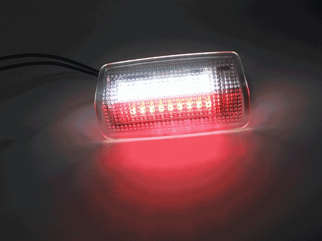 2pcs White +Red LED Courtesy Door Light For Lexus IS ES LS LX RX GS GX LC RC Toyota Crown Land Cruiser Prado Highlander Reiz