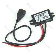 OOTDTY J34 Frete Grátis 1 PC DC DC Módulo Conversor de 12 V Para 5 V Saída USB Power Adapter New