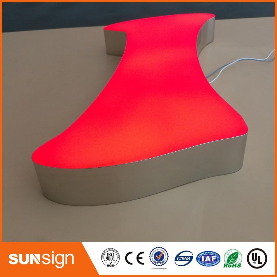 Custom Outdoor Epoxy Resin 3D Frontlit Led Channel Metal Letter Logo