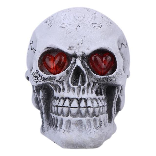 halloween crne squelette halloween jouet rsine drle flash lumire fantme tte lumineux crne haunted halloween bricolage - Squelette Halloween