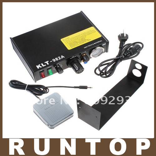 220V Auto Glue Dispenser Solder Paste fluxes Controller Dispensing Dropper KLT 982A for SMD PCB klt 982a solder paste glue dropper liquid auto dispenser controller black