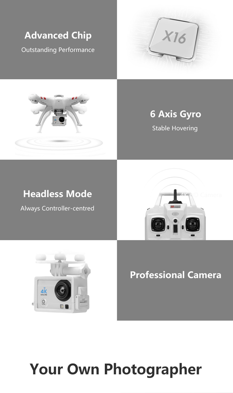 X16 rc drones with camera hd dron GPS height 500 meters fly distance Fpv quadcopter rc helicopter Brushless Motor 4K 1600W Toys 13