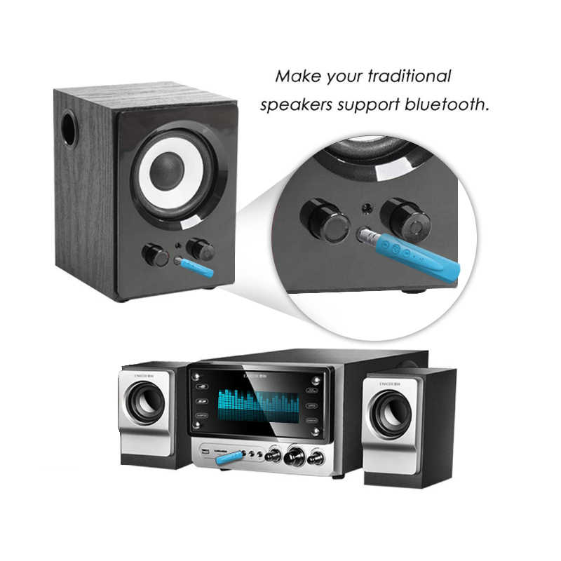 YOU FIRST Bluetooth Receiver Audio AUX 3.5mm Wireless Adapter Bluetooth 4.1 Music Car Kit for Speaker Headphone Car Bluetooth PC