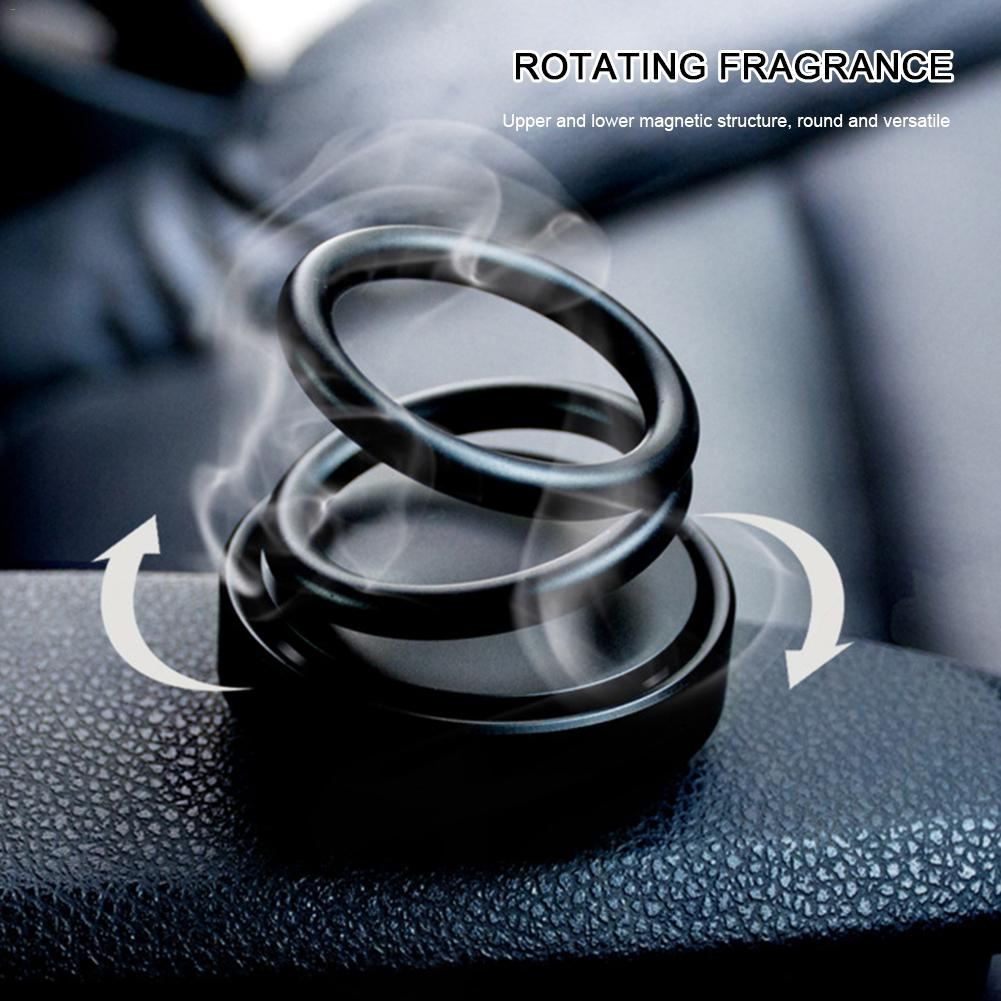 Image 2 - Car Aromatherapy Innovative High End Double Ring Air Fresher Suspension Rotating Car Air Purifier Decoration Fragrance Novelty-in Air Freshener from Automobiles & Motorcycles