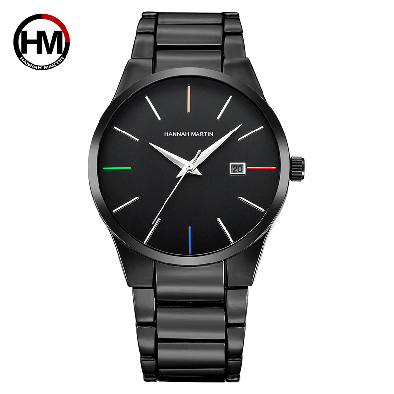 HM 2019 Man Business Quartz Watch Top Brand Sport Wristwatch Luxury Dress Female Clock Black Date Waterproof Military Relogio