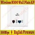 EnglishFirmware 300 Мбит в Уолл AP для отеля Wi-Fi проекта, Крытый AP 802.11bgn Wi-Fi Точки Доступа, POE Питания питания USB Зарядка Порт