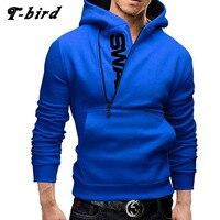Hoodies Men 2017 Brand Male Long Sleeve Hoodie Side Zipper Letter Sweatshirt Mens Moletom Masculino Hoodies
