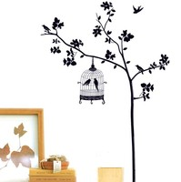 Tree And Bird Cages Wall Decal Sticker Decor Art Mural Bedroom DIY