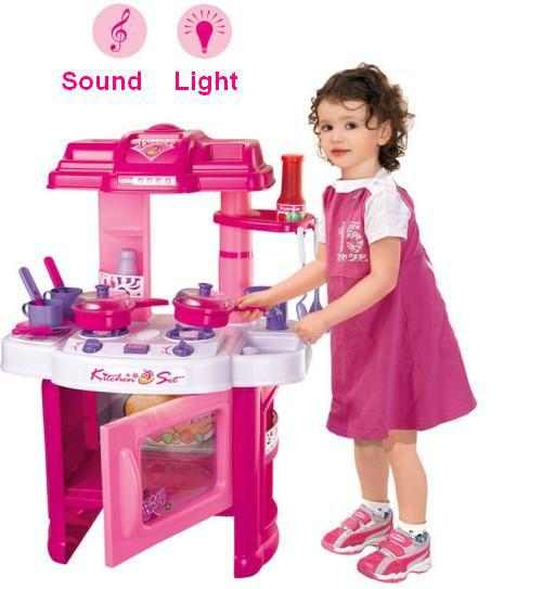 Children Kid Girl Toy Pretend Playing Game Cooking Kitchen Toy Set