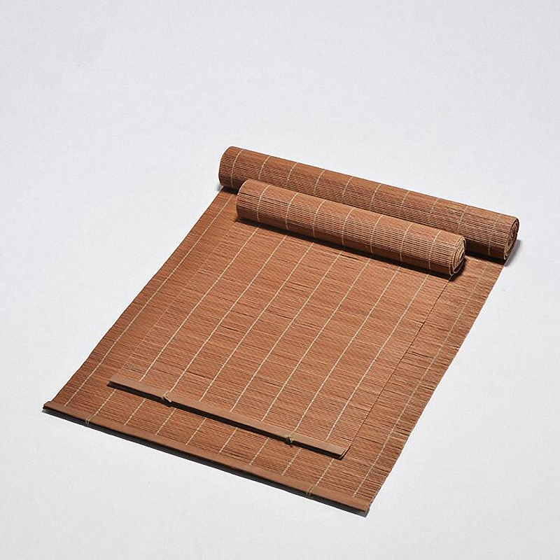 Natural Bamboo Heat Resistant Mat High Quality Bamboo Table Placemats Hand Made Tea Ceremony Accessories Vintage