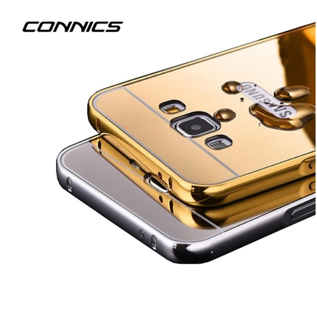 CONNICS G3606 Aluminum Phone Frame Plated Acrylic Cover Case For Samsung Galaxy Core Prime LTE SM-G3606 G360 G3608 G3609 Case