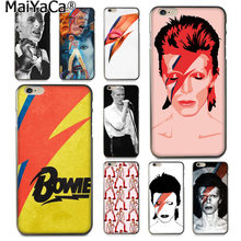 Maiyaca David Bowie Mode Telefoon Case Voor Iphone Se 2020 11 Pro 8 7 66S Plus X 5S se Xs Xr Xs Max Cover(China)