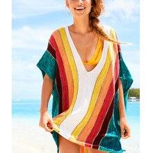 Стильный пляUPS жный купальный костюм пляжный топ женский s полосатый пляжный купальник пикантные накидки пляжное платье для беременных женщин