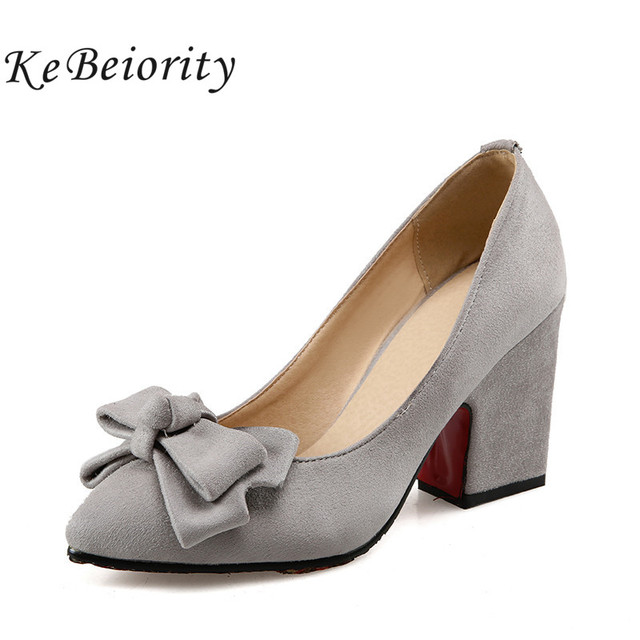 2d100eb7ca3 2019 thick heel red pumps shoes for women grey pumps shoes for women heels  pointed toe high heel blue chunky heel wedding shoes