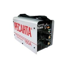 Аппарат сварочный инверторный РЕСАНТА САИ 160 (Диапазон тока от 10 до 160А, мощность 4800 Вт, диаметр электродов до 4 мм)