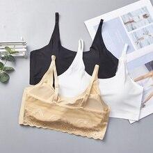 купить Sexy Padded Seamless Bra Bralette Women Push Up Bra Back Lace Wireless Bras по цене 204.59 рублей