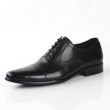 Handmade Fashion Luxury Brogue Wedding Office Party brand formal shoes Genuine Leather Men's dress shoes