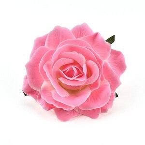 Image 3 - 30PCS Artificial Silk Flowers Heads For Wedding Decoration White Rose DIY Wreath Gift Box Scrapbooking Craft Fake Flower Head