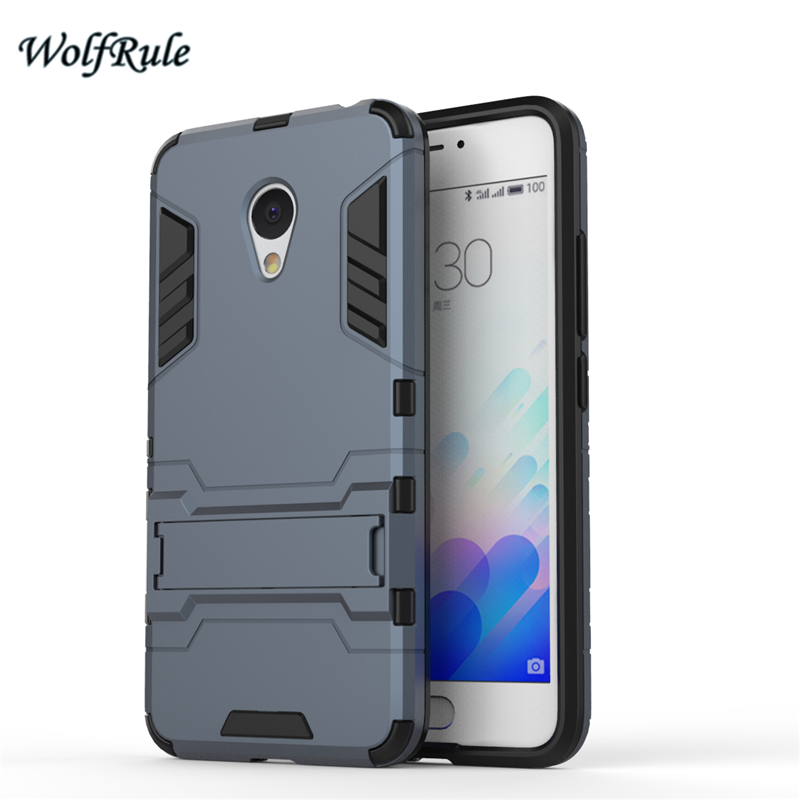 Mobile Phone Bags &#038; Cases: Cover For Meizu M3s Case Dual Layer Soft TPU &#038; Slim Plastic Shockproof Holder Coque Phone Case For Meizu M3s M3 Mini ><