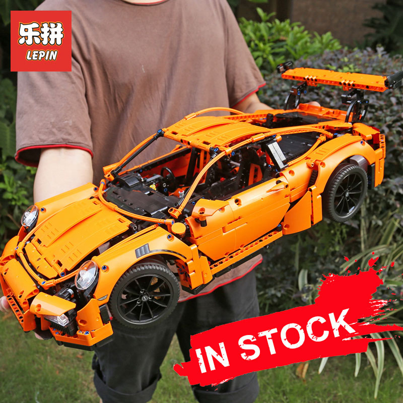 Lepin 20001 technic series Building Blocks Bricks Supercar racing car Compatible with legoing 42056 Educational Toys Birthday lepin 21004 ferrarie f40 sports car model legoing building blocks kits bricks toys compatible with 10248
